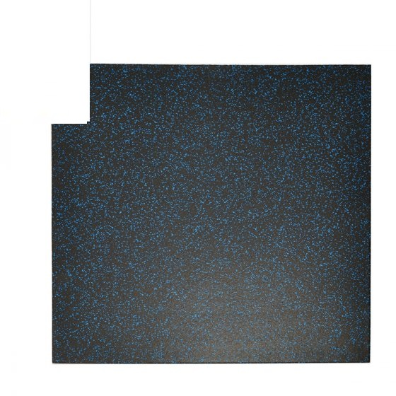 Buy Elite Star-lite Rubber Floor Tile Black/Blue - EGym Supply