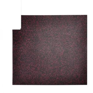 Buy Elite Star-lite Rubber Floor Tile Black/rose Black/rose - EGym Supply